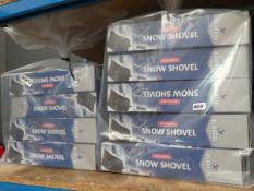 9 boxed snow shovels