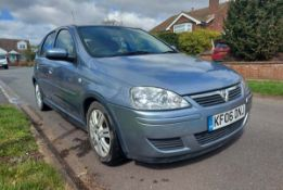 Vauxhall Corsa 1.4 Active Automatic in silver, 5 door hatchback, first registered 03/03/2006, MOT