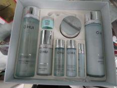 O Hui intensive hydrating skin friendly formula set with Miracle Aqua including skin softener,