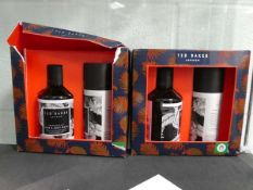 Ted Baker Graphite Black hair and body wash and body spray set (2 boxes)