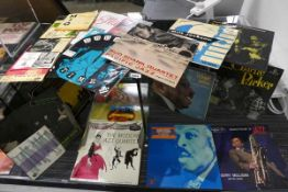 14 various jazz LP's to include Milt Jackson, Charlie Parker and various other singles
