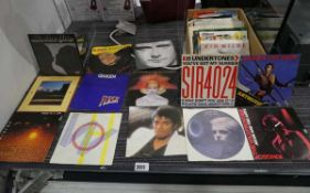 Approx 40+ vinyl 7'' singles to include Michael Jackson's Billie Jean, Phil Collins In The Air