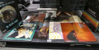 10 various LP records to include Changes I & II by David Bowie, The Rolling Stones Big Hits and