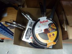 Box of mixed pans, some used