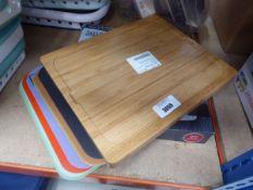 Bamboo chopping board and Taylor digital glass scales No visible signs of use