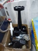 Two boxes containing Braun multi hand whisker and a Kenwood food processor, all with attachments