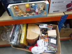 Box of children's toys and household items