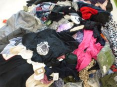 Stillage containing mixed ladies and men's clothing (approximately 150 items)