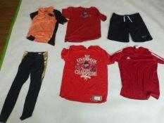 Selection of sportswear to include Nike, Adidas, Brick Fielder, etc