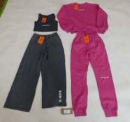 Public Desire x Carms London track suit sets in grey and pink sizes 6 and 10