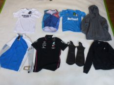 Selection of sportswear to include Adidas, Nike, Castore, etc