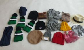Selection of mixed style hats