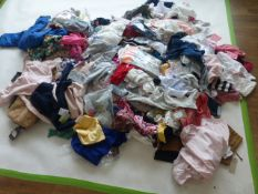 Half a stillage containing mixed children's clothing ages 3 and under (approximately 200 items)