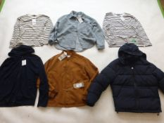 Selection of Zara clothing to include jackets, hoodie and tops