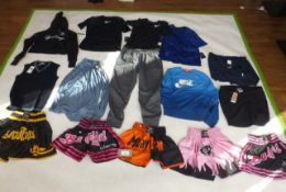 Selection of sportswear to include Under Armour, Nike, Adidas, etc