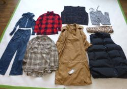 Selection of Shein clothing to include jackets, trousers, tops, etc