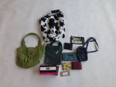 Selection of bags, purses, wallets, etc