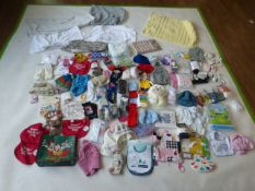 Selection of children's accessories to include blankets, socks, bags, etc