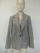 Fenn Wright Manson Studio ladies geometric blazer size 16