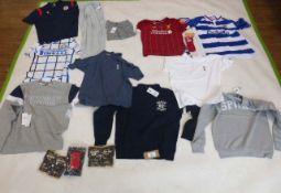 Selection of sportswear to include Nike, Gymshark, Macron, etc