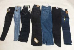 Selection of denim wear to include New Look, Denim Life, Levis, etc