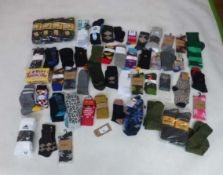 Selection of mixed paired socks