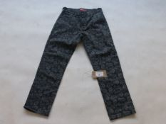 Supreme paisley print chino trousers in grey size 32
