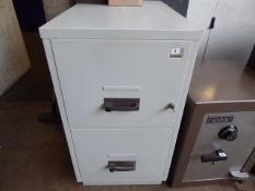 54cm Chubb two drawer fire safe with wall plate
