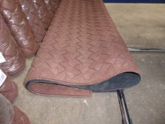 120cm by 180cm brown rubber back commercial mat with woven design