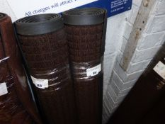 122cm by 183cm brown commercial rubber back mat with square pattern