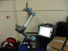 Universal Robots Model UR5 Industrial Robotic Arm with tablet controller, control box & further