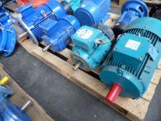 Four assorted motors, Brook Crompton T-DA132SA, 6.32kw; Brook Crompton W-DA112MM-C, 5.5kw; CMG SLA