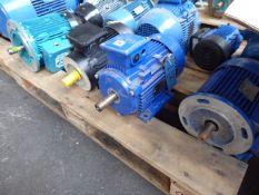 Four assorted motors, Lafert ST90S C2, 1.7kw; CMG SLA 100L-2, 3kw; AEG AM112M/A2, 4.6kw and a W.H
