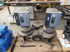 Grundfos TPED 125-110/4-110/4 A-F-A-BAQE twin stage pump, with each motor having inverter drive