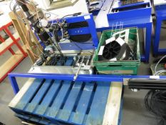 A Specialist welding jig on gantry for automated welding including welding wire decoiler,