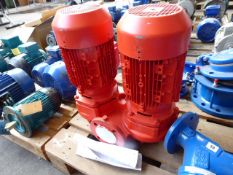 KSB Trialine Z 50-160/402G11 twin stage pump, with each motor 4.6kw and 31kg