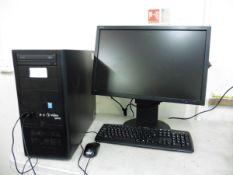 Viglen Genie Tower PC with Core i7 cpu, WD Blue Sata 1TB SSD hard drive, MSI Aero graphics, NEC 24''