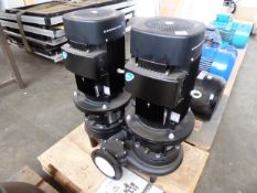 Grundfos 65-340/2 A-F-A-BAQE twin stage pump, with each motor 5.5kw and 43kg