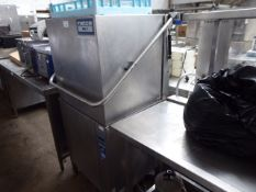67 - 65cm Metos WD7 lift top pass through dishwasher with draining board