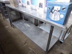 72 - 180cm stainless steel draining board