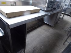 176 - 200cm stainless steel preparation table with small splash back