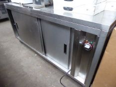 Infernus mobile hot cupboard with 2 sliding doors