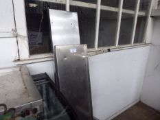 2 stainless steel wall mount shelves (1 with wall bracket)
