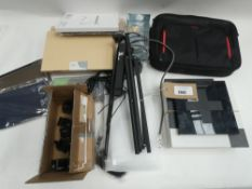 Bag contaning laptop bag, tablet covers, etc