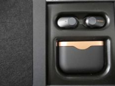 Sony WF-1000XM3 wireless noise cancelling earphones with charging case and box