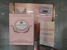 Paco Rabanne Olympia perfume set together with Aphrodite Edition 100ml and Burberry London for Women