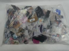 Bag containing quantity of various loose costume and dress jewellery