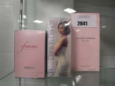 3 sets of ladies perfumes to incl. Femme by Hugo Boss 75ml