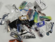 Bag of assorted glasses and sunglasses