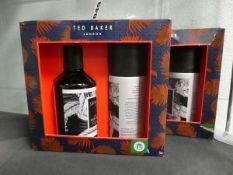 2027 Ted Baker Graphite Black hair and body wash and body spray set (2 boxes)
